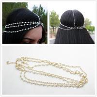 Pearl Hairband Hair accessories Crown Hair jewelry Headband Styling Tools Head Chain Head Jewelry CF099