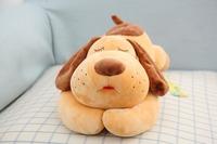 50cm super cute soft stuffed sleeping lying dog toy doll, plush brown dog toy,creative graduation&birthday gift for children,1pc
