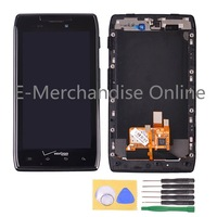 LCD Display For Motorola RAZR XT912 XT910 LCD Display Touch Screen Digitizer Assembly Replacement Parts Black +frame+tools