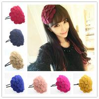 16 colors  Big Flower Hairband Hair accessories Crown Hair jewelry Headband Styling Tools Head Chain Head Jewelry CF010