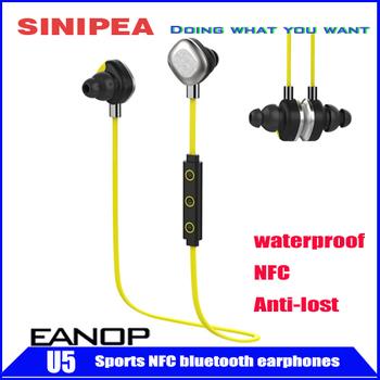 Горячая распродажа наушники водонепроницаемый беспроводной стерео Bluetooth наушники наушники гарнитуры поддержка NFC по борьбе с потерянный сигнал EANOP U5