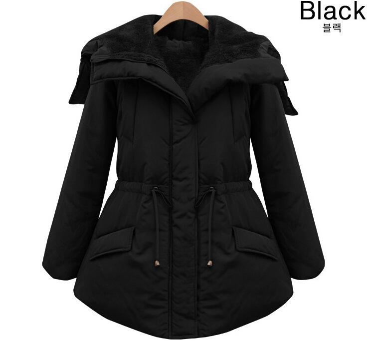 New 2014 Winter coat women Thicken slim female parka Black warm jacket women Casual cotton down coat for women Free Shipping(China (Mainland))