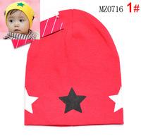 2015 new baby hats infant caps baby cap with star headdress head skull cap beanie cotton kid's hat boy's girl's gift