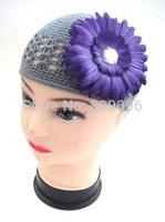 Cotton plain kufi hats baby crochet hats girls lovely kufi hats KP-KH