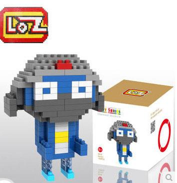 Keroro Gunso Series Toys, Sergeant Keroro Diamond Building Blocks, LOZ Small Blocks Toys from Sgt. Frog, Good Present for Kids(China (Mainland))