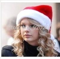6PCS/lot Chirstmas Hat Red Santa Claus Hat Christmas Decoration Supplies Christmas Costume Supply