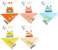 Free shipping Baby two piece cute cartoon  Animals Hats &Bibs Sets Infant Caps Sets Cotton Beanie Caps