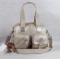 2014 Bolsa kippling handbag gold color nylon shoulder bag mochila kippling 2014 handbag shoulder bag with monkey free shipping