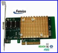 10 Gigabit Dual sfp Slot  SFP Slot Card Big Golden Heat Sink PCIe x8 Network Interface Card