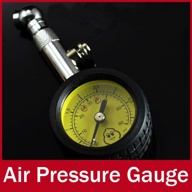 Meter Tire Pressure Gauge 60 PSI Auto Car Bike Motor Tyre Air Pressure Gauge Meter Vehicle Tester monitoring system(China (Mainland))