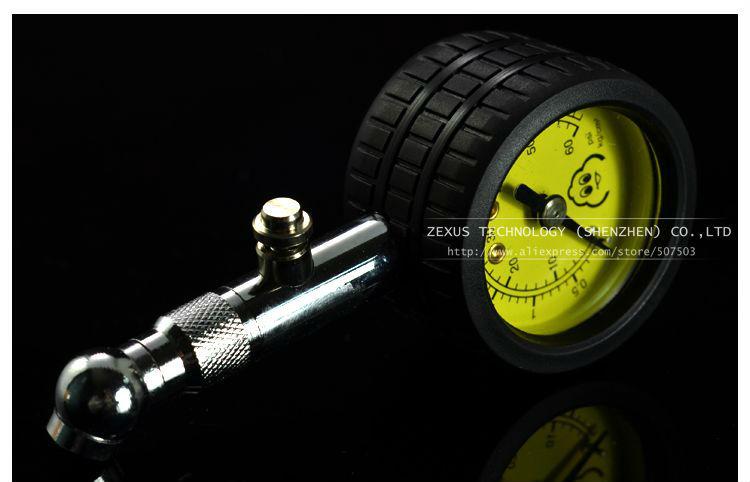 Meter Tire Pressure Gauge 60 PSI Auto Car Bike Motor Tyre Air Pressure Gauge Meter Vehicle