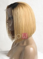 Beyonce bob style  medium brown #4  human hair  lace front wigs