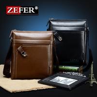 wholesale fashion ZEFER business man shoulder bag men messenger bag male Genuine Leather handbags