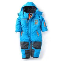 Free Shipping - children/kids/boys windproof waterproof ski jumpsuit, toddler rompers, autumn/winter overalls topolino