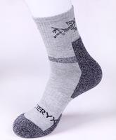 (2Pairs/Lot)Wholesale thick hiking socks outdoor sports socks terry socks male quick-drying towel men sport socks