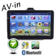 Freeshipping New 7″HD Car GPS Navigator FM Multimedia Player Bluetooth AV-in 128MB 4GB Rom