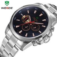 WEIDE new 2014 men watch luxury brand watches Japan movement relojes full steel men quartz clocks fashion gift free shipping