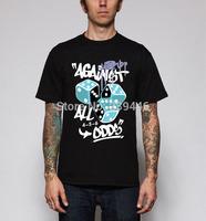 DGK Loose Tshirt Men Street Skateboard Dance Hiphop T Shirts Dice Fashion Print T-shirts Short Sleeve Round Neck