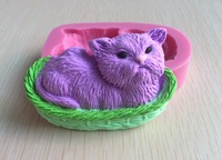 Lovely Blue Cat Silicone 3D Mold Fondant Cake Decorating Tools, Mould,  Silicone Soap Mold, Cooking Tools-S065