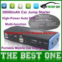 Enhanced 12V Diesel Version Car Jump Starter 38000mAh High-power Portable Dual-USB Emergency Car Battery Charger Full Package
