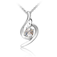 2014 New Sale Hot Austria Crystal 18K Gold Plated Pendant Necklace for Women Luck Angel Style #MG487