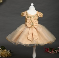 wholesale 2014 hot Newest dress, kid girl print flower dress ,girl bow floral dress, free shipping 6pcs\lot TY-X01