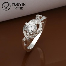 2014 SALE joias 925 silvering ruby wedding Austrian Crystal CZ Simulated Diamonds ring new design for