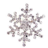 cartoon classic Aisha snowflake brooch 4*4 cm 2 colors children's favorite Jewelry Christmas gift NB-001