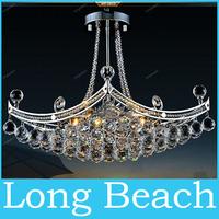 Chandelier LED 6 Bulbs Lamp Lighting 35MM Crystal Lamp  with Elegant Design  K9 Crystal Hanging Wire Ball Pendant Living Room