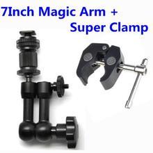 Photo Studio 7″ Adjustable Friction Articulating Magic Arm Super Clamp for DSLR rig Camera Camcorder LCD Monitor LED Flash Light