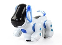 Interactive Electronic Toys Eletronic Walking Robot Dog Puppy Toy Music Shine Pet Ear Rotating Tail Swing Safe Kid's Toy