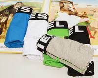 5 Pieces/Lots 2014 Brand Disel Mens Underwear Boxers Mix Color Cotton Cuecas Shorts Underwear Men Calzoncillos Hombre D0002