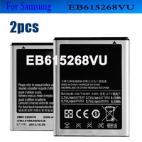 2pcs Mobile Phone Battery  EB615268VU 2500mAh for Samsung Galaxy Note GT-N7000 N7000 GT-I9220 I9220