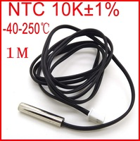 Waterproof NTC High Temperature Sensor Probe -40C to 250C NTC 10K 1M Length