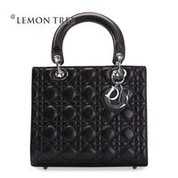 New 2014 genuine leather bags women messenger bag women leather handbags shoulder bag fashion plaid crossbody bolsas femininas