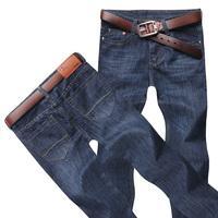 Men Jeans Classic Denim Regular Fit Jean Work Pants Size 28-38 Mens New Fashion Trousers Blue for Man