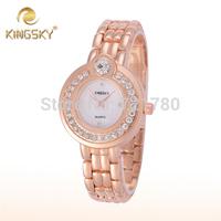 Fashion Brand Kingsky Ladies Rose Gold Watch Diamond Rhinestone Gifts Quartz Clock Women Dress Watch Women Casual Wristwatch