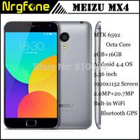 "In stock Original Meizu MX4 4G LTE Mobile Phone MTK6595 Octa Core 5.36"" IPS OGS Screen 2GB/16GB 20.0MP 3100mAh GPS WCDMA"