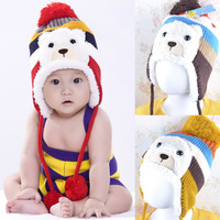 New 2014 Christmas Child hat plus velvet baby ear protector cap thickening Thermal winter Warm fashion baby hats caps