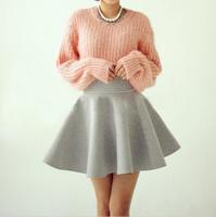 5 colors 2014 New Fashion womens skirts Summer Autumn Vintage High Waist Flared Ball Gown Mini Elastic Short Skirt Big Plus Size