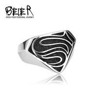 US Size 7-13 Wholesale Men's Fashion Jewelry Stainless Steel Man's High Quality Superman Ring Exclusive Sale BR8-116