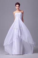 2014 New Hot Sexy Spring summer autumn winter girl casual bandage women clothing Long Chiffon Bridal Gown wedding dress stock