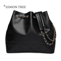New 2014 genuine leather bags women messenger bags women handbags bolsas femininas shoulder bag fashion crossbody Bucket lady