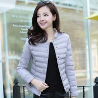 Free Shipping high quality slim zipper O-neck long sleeve women All-match pure temperament cute leisure cotton jacket