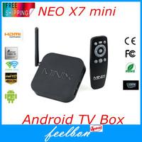 MiniX Neo X7 mini TV Box Android 4.2.2 OS Quad Core Rockchip RK3188 1.6GHz 2GB/8GB Bluetooth WIFI RJ45 IR Remote Control Black