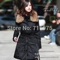 2014 New designer Long sections Slim Winter Down Parkas Women's down jacket long winter jacket for belstaf women free shipping