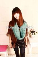 Unisex foulard Winter knitting Wool knitted scarves Neck Warmer girls ladies wrap winter Scarf collar Shawl wraps women