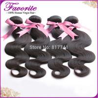 Good Quality Brazilian Virgin Hair Weaves 4Pcs/Lot Bundles Unprocessed Virgin Brazilian Body Wave Wavy Favorite Human Hair Weft