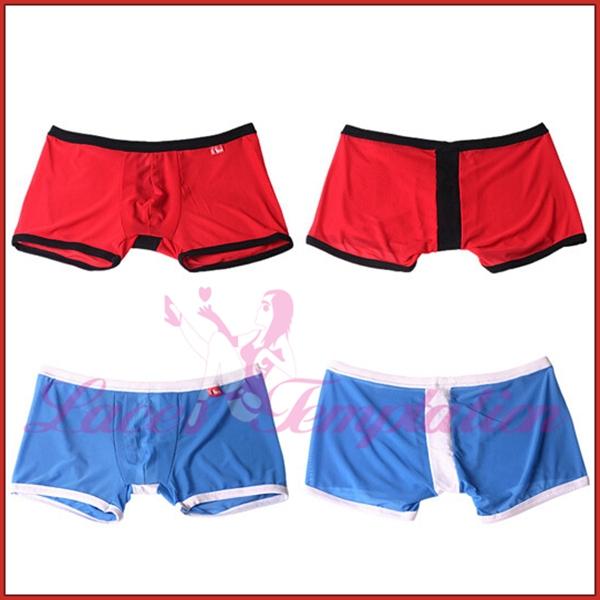 Men underwear boxers shorts 4 color transparent temptation gauze male panties M XL men s lingerie