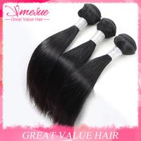 Wholesale 10PCS Lot Natural Black Straight Hair 5A Grade Soft Silky Straight Hair Extension Sunlight Hair Cheap 100g Per Pieces
